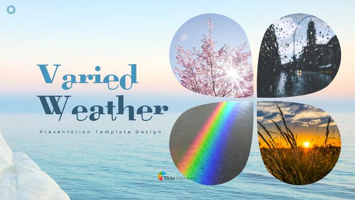 다양한 날씨 편집이 쉬운 프레젠테이션 템플릿_01