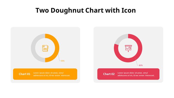 아이콘이있는 두 개의 도넛 형 차트_01