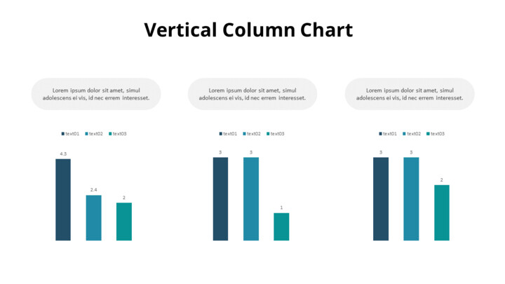 Various Comparison Column Chart_01