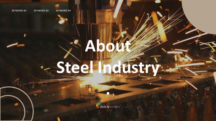 철강 산업에 대해 비즈니스 전략 파워포인트_01