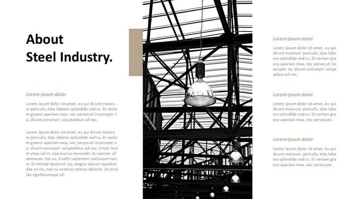 철강 산업에 대해 비즈니스 전략 파워포인트_02