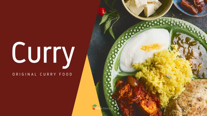 인도 요리 카레 (커리) 파워포인트 디자인_01