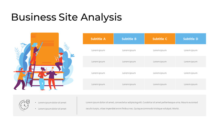 Business Site Analysis with Infographic Page Design_01