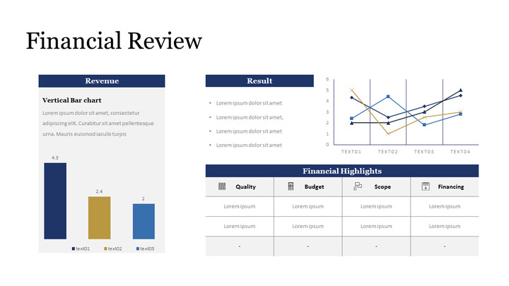 Financial Review with Chart Single Deck_01