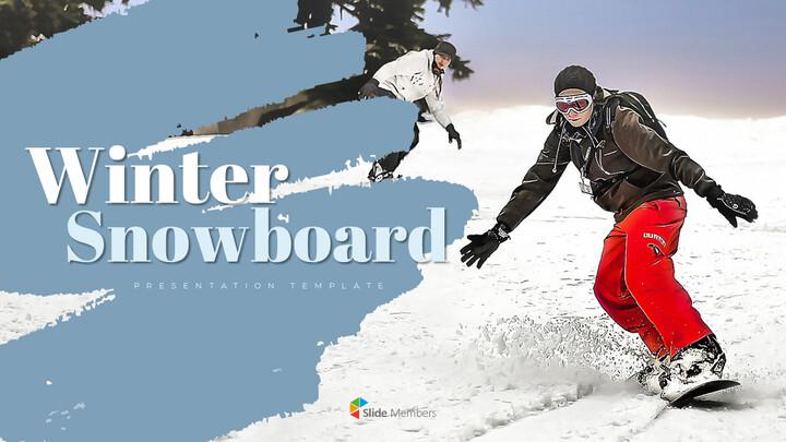 겨울 스노우 보드 파워포인트 슬라이드 디자인_01