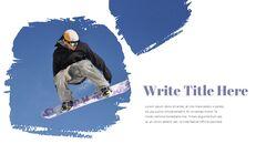 겨울 스노우 보드 파워포인트 슬라이드 디자인_10