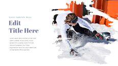 겨울 스노우 보드 파워포인트 슬라이드 디자인_18