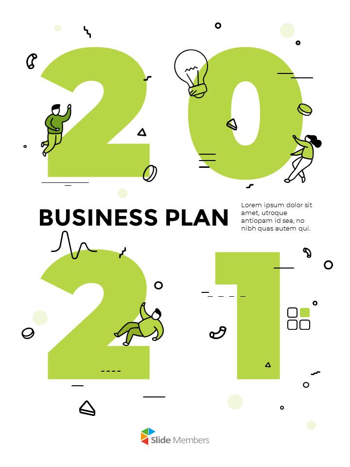 2021 Business Plan Template Design Startup PPT Templates_01