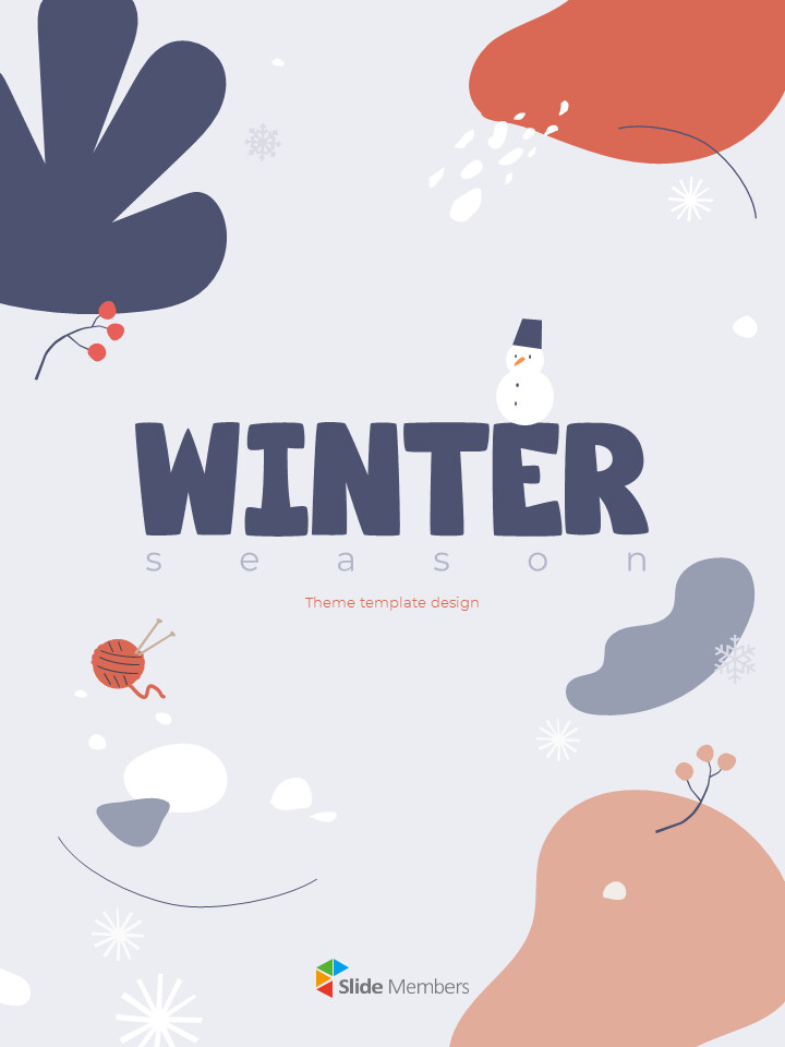 Winter Season Theme Abstract Design Template PowerPoint Format_01