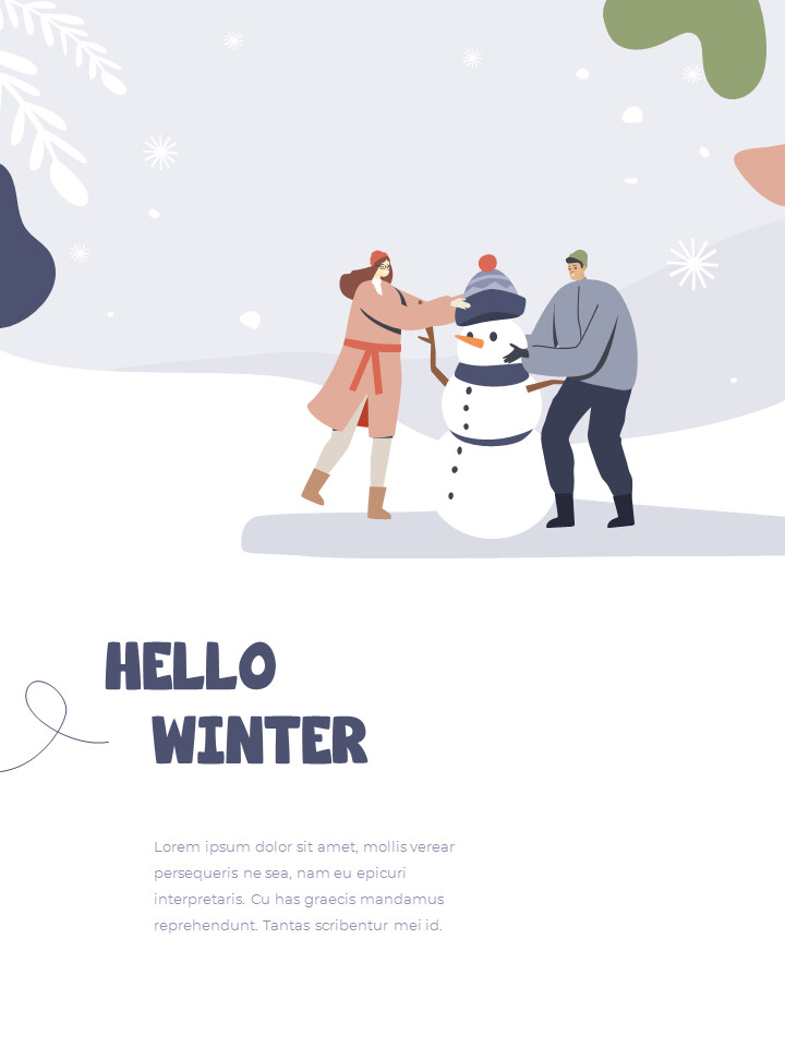Winter Season Theme Abstract Design Template PowerPoint Format_02