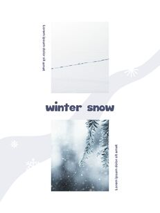 Winter Season Theme Abstract Design Template PowerPoint Format_09