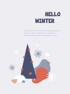 Winter Season Theme Abstract Design Template PowerPoint Format_28