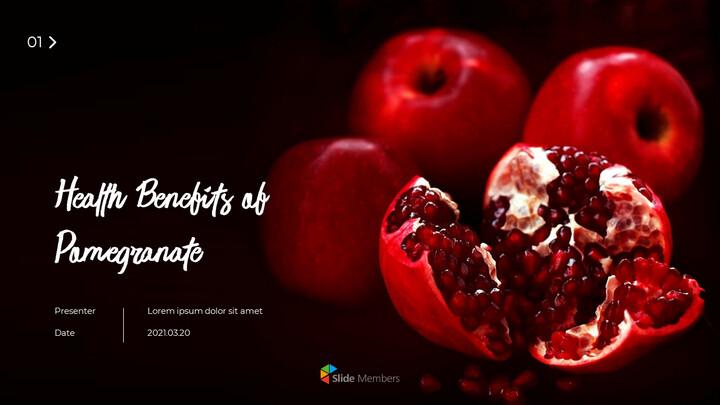 몸에 좋은 석류 프레젠테이션 템플릿 디자인_01