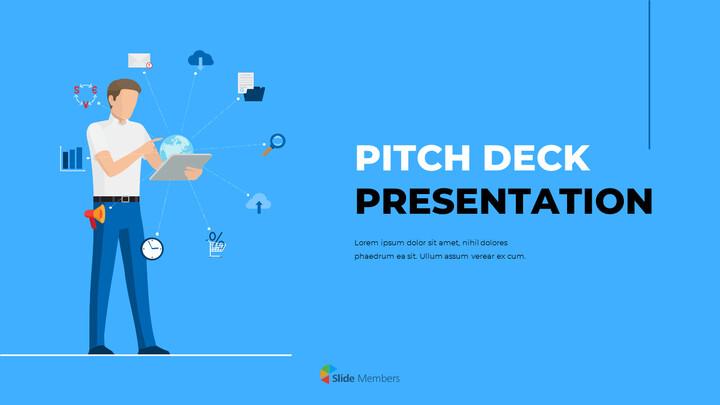 Blue Business Illustration Pitch Deck Presentazione PowerPoint Video_01