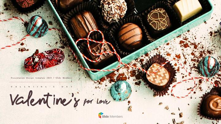 발렌타인 데이는 사랑을위한 것입니다 프리미엄 파워포인트 템플릿_01
