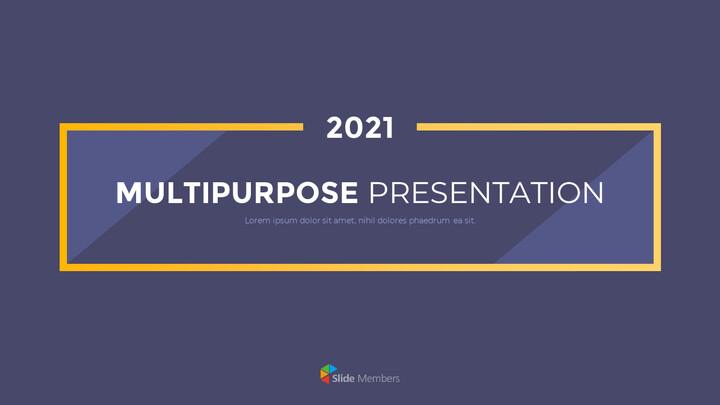 Modelli di animazione del piano aziendale di progettazione di modelli multiuso 2021_01