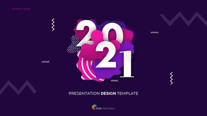 Design animato del mazzo PowerPoint del progetto 2021_01