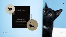 Black Cat Simple PPT Templates_16