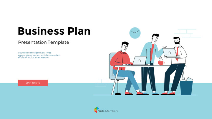 Business Plan Illustration Pitch Deck Powerpoint Presentation Video_01