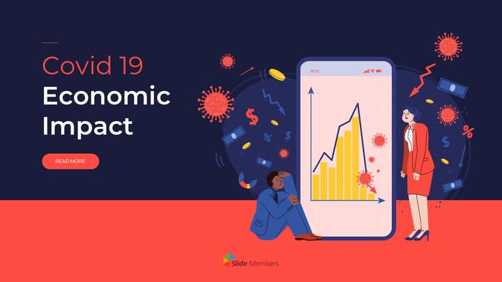 Modello di animazione powerpoint Covid 19 Impatto economico_01