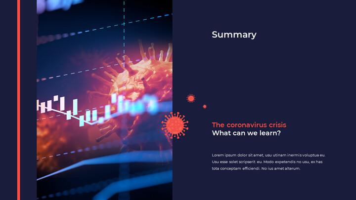 Modello di animazione powerpoint Covid 19 Impatto economico_02