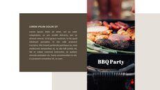 BBQ 가든 파티 파워포인트 프레젠테이션 슬라이드_04