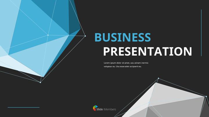 Video di presentazione PowerPoint di sfondo poligono aziendale_01