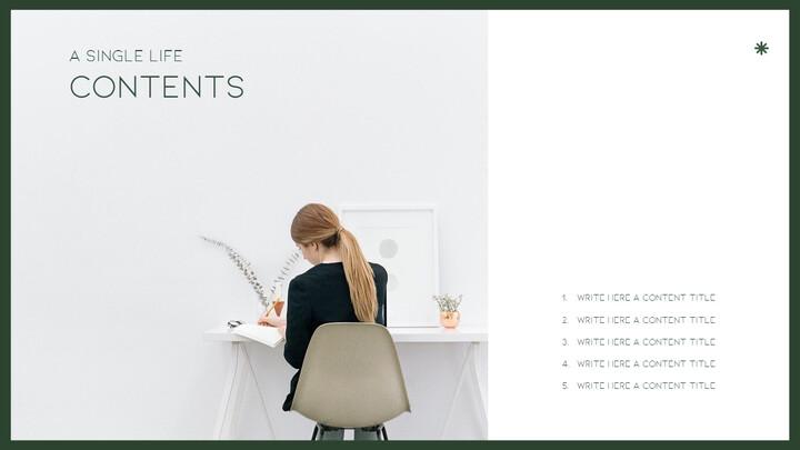 싱글 라이프 프레젠테이션 슬라이드 디자인_02