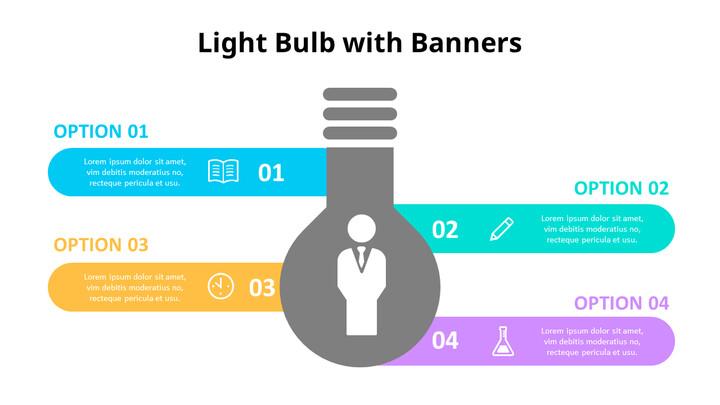 Simple Lightbulb Infographic Diagram_01