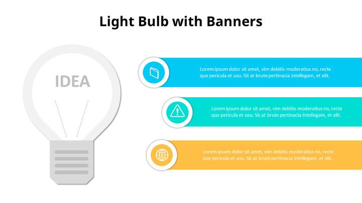 Simple Lightbulb Infographic Diagram_02