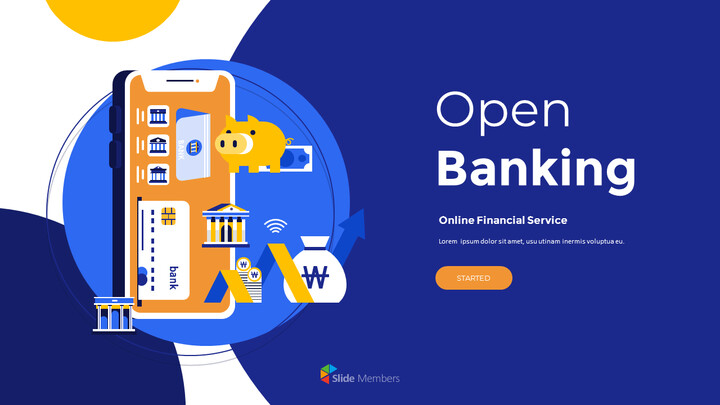 Open Banking Service Pitch Deck Animated Slides in PowerPoint_01