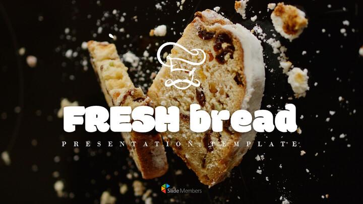 프랑스 빵 심플한 프레젠테이션 Google 슬라이드 템플릿_01