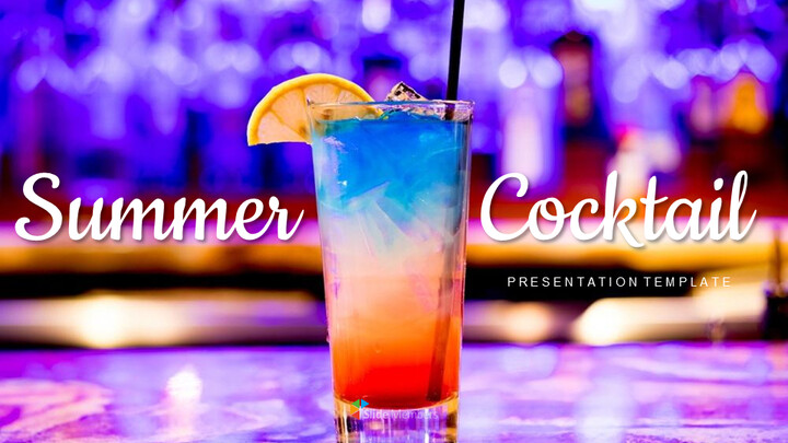 Summer Cocktail Simple Google Slides Templates_01