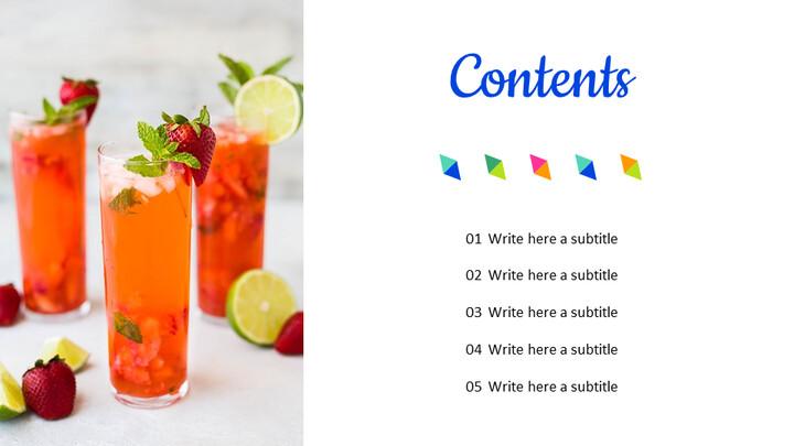 여름 칵테일 심플한 Google 슬라이드 템플릿_02