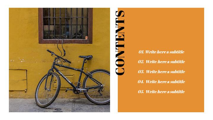 자전거 심플한 Google 슬라이드 템플릿_02