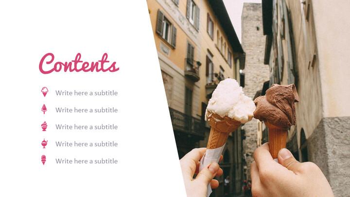 아이스크림 가게 심플한 Google 슬라이드 템플릿_02