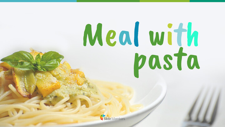 Meal with Pasta Easy Google Slides Template_01
