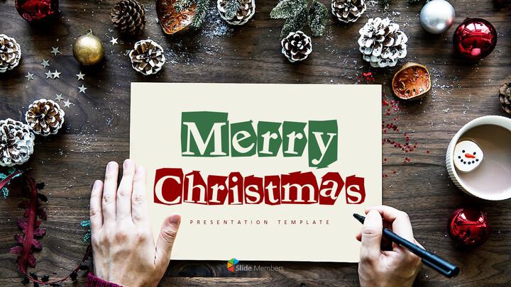 메리 크리스마스 편집이 쉬운 슬라이드 디자인_01