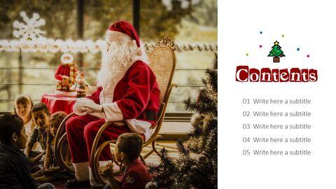 메리 크리스마스 편집이 쉬운 슬라이드 디자인_02