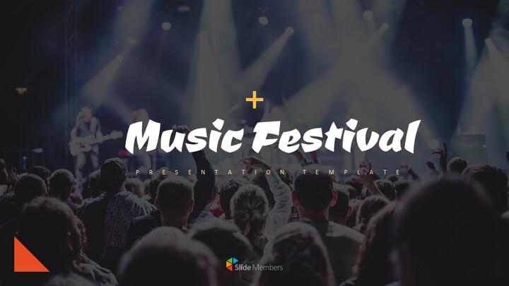음악 축제 심플한 프레젠테이션 Google 슬라이드 템플릿_01