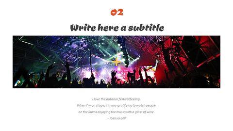 음악 축제 심플한 프레젠테이션 Google 슬라이드 템플릿_04