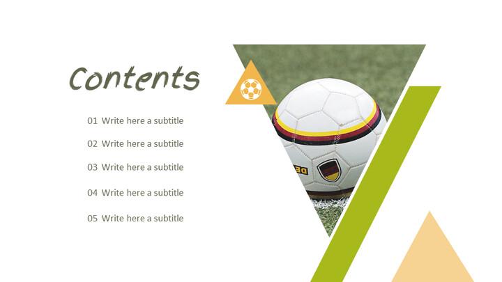축구 선수 심플한 프레젠테이션 Google 슬라이드 템플릿_02