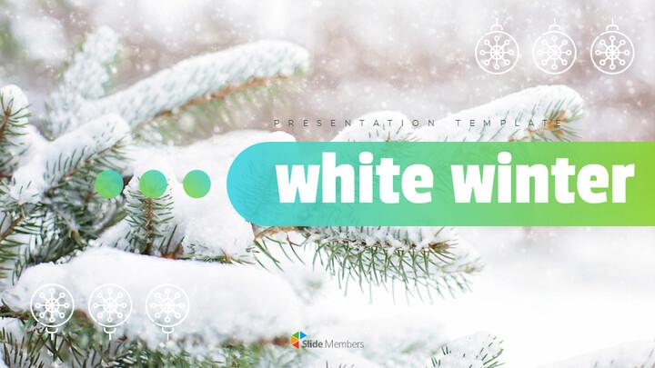 하얀 겨울 편집이 쉬운 Google 슬라이드_01