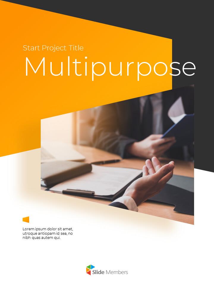 Start Project Multipuropose Template Design presentation slide design_01