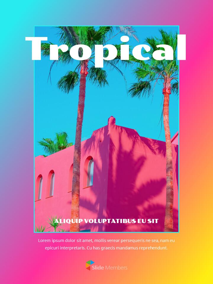 Colorful Tropical Concept PowerPoint Presentation Design_01