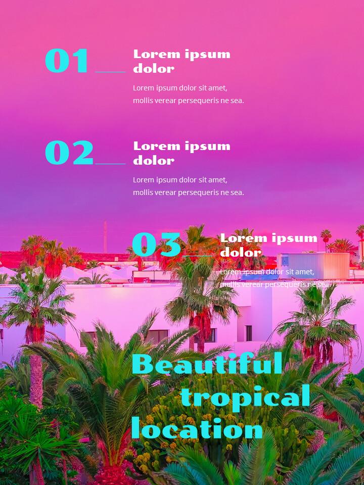 Colorful Tropical Concept PowerPoint Presentation Design_02