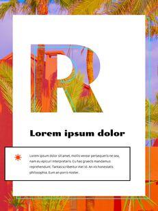 Colorful Tropical Concept PowerPoint Presentation Design_03