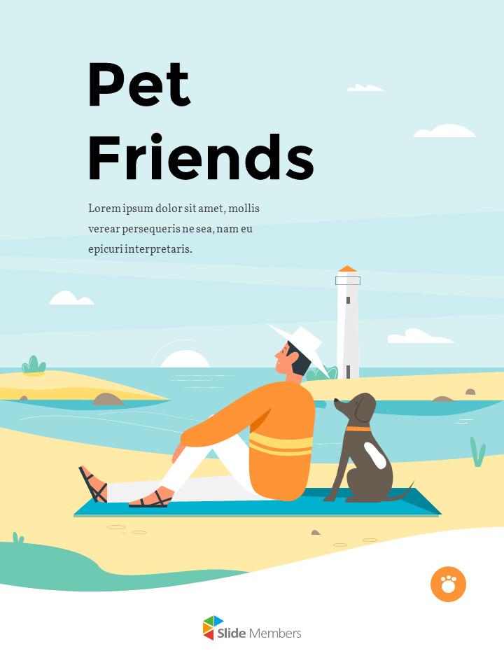 My Pet Friends Theme Illustration Vertical PowerPoint Presentations_01