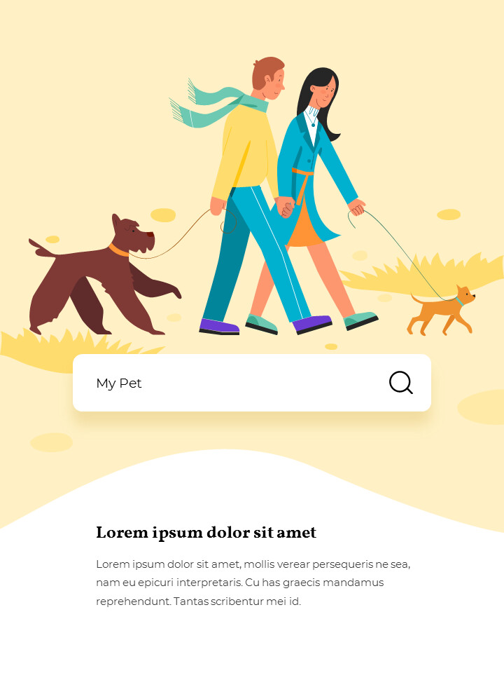 My Pet Friends Theme Illustration Vertical PowerPoint Presentations_02