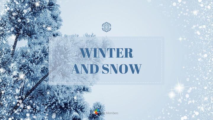 Winter Snow Presentation Google Slides Templates_01